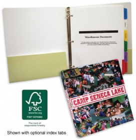 Promotional products: Three ring binder with pockets