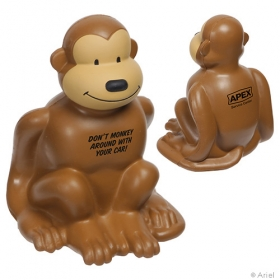 Promotional products: Monkey Stress Reliever Brown