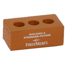 Promotional products: Brick With Holes Stress Reliever