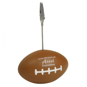 Promotional products: FOOTBALL MEMO HOLDER