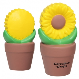 Promotional products: Sunflower In Pot Stress Reliever
