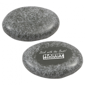 Promotional products: Smooth Stone Stress Reliever Dark Gray
