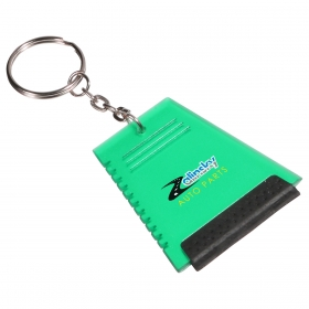 Promotional products: MINI ICE SCRAPER KEY CHAIN GREEN