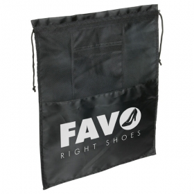 Promotional products: Product in Action; SOLELO TRAVEL DRAWSTRING SHOE BAG