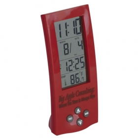 Promotional products: TOWER TIME AND TEMP CLOCK