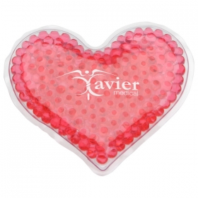 Promotional products: HEART GEL HOT/COLD PACK RED