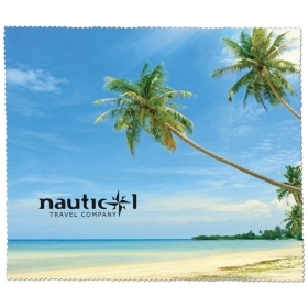 Promotional products: PREMIUM MICROFIBER CLEANING CLOTH - BEACH