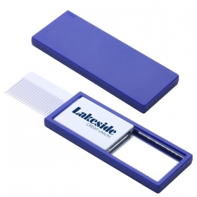 Promotional products: QUICK CHECK COMB & MIRROR BLUE