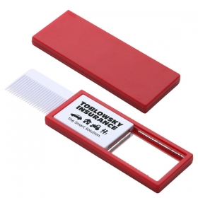 Promotional products: QUICK CHECK COMB & MIRROR RED