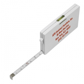 Promotional products: TAPE MEASURE CARD WITH LEVEL INDICATOR
