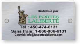 """Promotional products: .024"""" Brushed Aluminum Metal Plates, Screen-printed"""