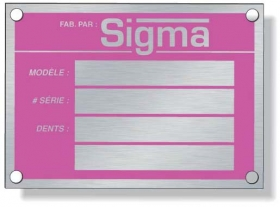 Promotional products: .020 Sealed Anodised Aluminum Metal Plates For Indoor Use, Screen-printed