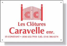 Promotional products: .020 White Aluminum Metal Fence Plates, Screen-printed