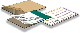 "Promotional products: .015 Magnetic Business Card Blanks - 1 Piece (2"" x 3.5"") Adhesive front"