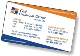 "Promotional products: .020 White Matte Magnetic Business Cards / Round Corners (2"" X 3.5"") Screen-printed, Any Bleed Edge"