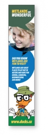"Promotional products: 14pt Cardstock Book Mark, (1.375"" X 6.875"") 4 Color Process Both Sides"