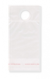 "Promotional products: Clear Polypropylene Bottle Neck Bag 3.75"" x 8"" - 1 1/4"" (stocking area 3.75"" x 4.5"")"