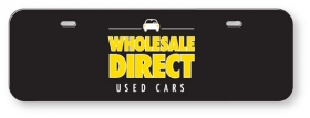"Promotional products: .060 White Styrene Licence Plates (3.875"" x 11.875"") screen-printed"