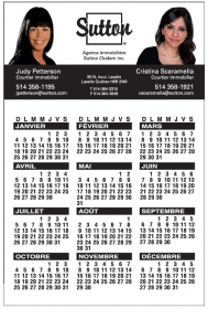 "Promotional products: 14 Pt Card Stock Calendars With Magnetic Back (4"" X 6"") Four Color Process On Front And Back"