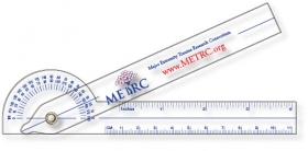 "Promotional products: .030 Clear Plastic Goniometer (1.5"" X 11.4"") Screen-printed"