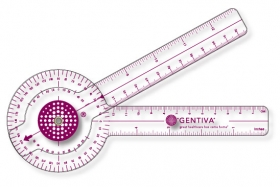 "Promotional products: .030 Clear Plastic Goniometer (3.18"" X 13"") Screen-printed"
