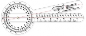 "Promotional products: .040 Clear Plastic Goniometer (5"" X 19.875"") Screen-printed"