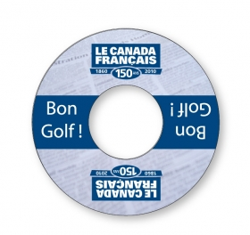 Promotional products: Golf Cup Advertising Ring - .020 White Pvc Plastic; Digital 4cp & Varnish