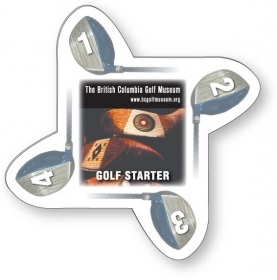 Promotional products: Golf Starter - .020 White Pvc Plastic; Four Color Process Both Sides Included