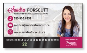 """Promotional products: .035 Magnetic Business Card With 1/2"""" X 2 1/2"""" Thermometer Full Color & Varnish"""