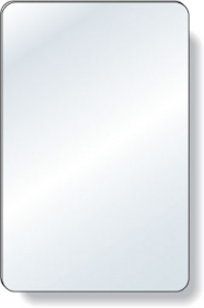 "Promotional products: .040 Shatterproof Copolyester Plastic Mirror / with magnetic back (2.75"" x 4.25"") Non-imprinted"