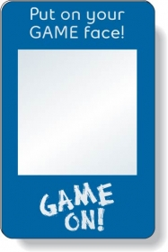 """Promotional products: .040 Shatterproof Copolyester Plastic Mirror / With Magnetic Back (2.75"""" X 4.25"""") Screen-printed"""