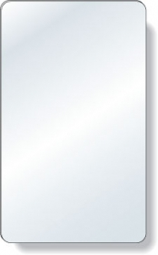 "Promotional products: .040 Shatterproof Copolyester Plastic Mirror / with magnetic back (3"" x 5"") Non-imprinted"