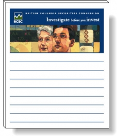 """Promotional products: 50 Sheet Magnetic Note Pads (3.5"""" X 4.25"""") Four Color Process"""