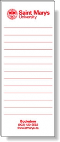"Promotional products: 50 Sheet Magnetic Note Pads (2.75"" x 7"") 1 Standard Color - Medium Red"
