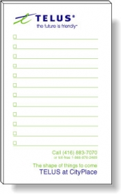 "Promotional products: 50 Sheet Magnetic Note Pads (3"" x 5"") 2 Custom Colors"