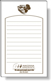 "Promotional products: 50 Sheet Magnetic Note Pads (3"" x 5"") 1 Custom Color"