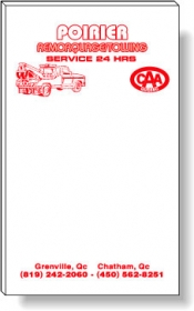 "Promotional products: 50 Sheet Magnetic Note Pads (3"" x 5"") 1 Standard Color - Medium Red"