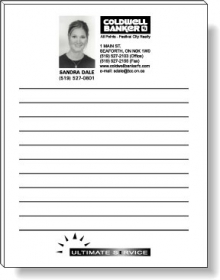 """Promotional products: 50 Sheet Magnetic Note Pads (4.25"""" X 5.5"""") - Spot Color"""