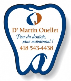 """Promotional products: .020 Stock Shape Magnets / Tooth (1.875"""" X 2.12"""") Screen-printed"""