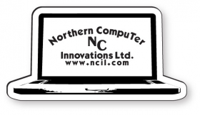 """Promotional products: .020 Stock Shape Magnet / Laptop (1.52"""" x 2.93"""") screen-printed"""