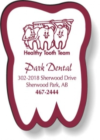 """Promotional products: .020 Stock Shape Magnets / Tooth (1.625"""" x 2.375"""") Screen-printed"""