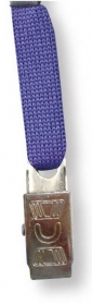 "Promotional products: Stock 36"" Blue Lanyard with 3/8"" bull dog clip in BULK"