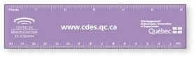 "Promotional products: Flexible Colored Rulers .020 Translucent Polypropylene / square corners (1.5"" x 6.25""). Screen-printed"