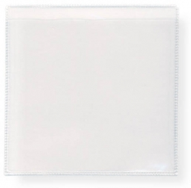 "Promotional products: Peel and Stick Clear Vinyl Sleeves 2.625"" x 2.625"" Packaged 6 sleeves per sheet"