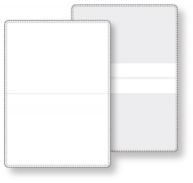 "Promotional products: Econo White Vinyl Wallet business card holder, open size (3.88"" x 5.38"") closed size (3.88"" x 2.63"") non-printed"