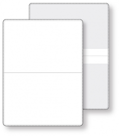 """Promotional products: Econo White Wallet Liability & Registration holder, open size (4.5"""" x 6"""") closed size (4.5"""" x 3"""") non-printed"""