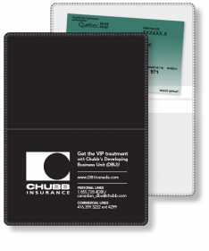"""Promotional products: Econo White Wallet Liability & Registration holder open size (4.5"""" x 6"""") closed size (4.5"""" x 3"""") screen-printed"""