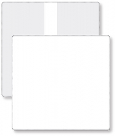 "Promotional products: Econo White Portfolio Travel & Passport holder, open size (9.25"" x 9.5"") closed size (9.25"" x 4.75"") non-printed"