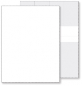 "Promotional products: Econo White Portfolio Warrenty holder, open size (9.56"" x 12.5"") closed size (9.56"" x 6.25"") non-printed"