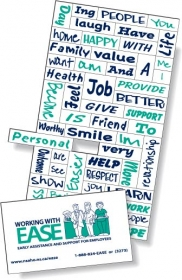 "Promotional products: .020 Magnetic Word Set / 56 Pieces (3.5"" x 8.25"") Screen-printed"